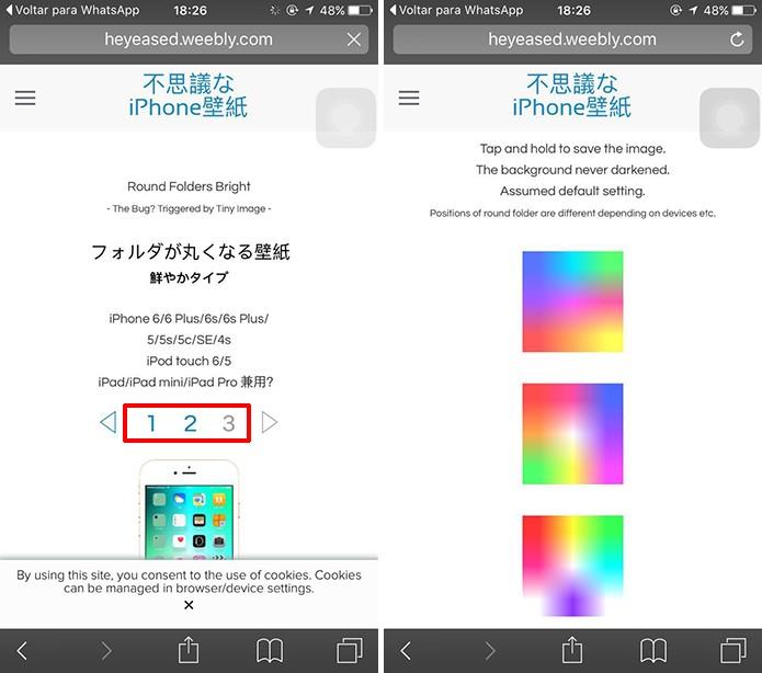 Usuário pode escolher esquema de cores para pastas redondas (Foto: Reprodução/Elson de Souza)