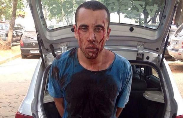 Carlos Eduardo Sundfeld Nunes foi preso suspeito de latrocínio em Goiânia, Goiás (Foto: Divulgação/PM)