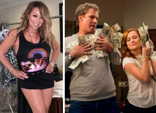 Mariah Carey e Will Ferrell e Amy Poehler em The House (Foto: Instagram/Reprodução)