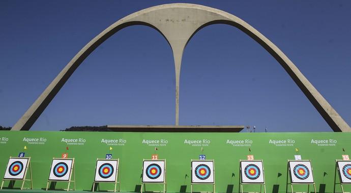 Evento-teste tiro com arco Rio Sambódromo (Foto: EFE)