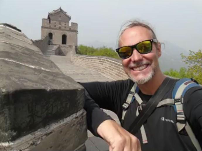 Ike Weber conheceu lugares incríveis durante a viagem de sete meses pela Ásia (Foto: Arquivo pessoal )