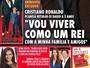 """CR7 estampa capa da revista """"Caras"""", e Rizek faz comparação com Beckham"""