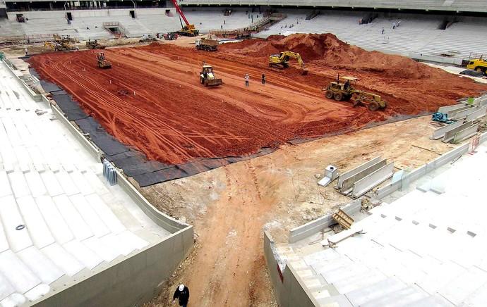 obras estádio Arena da Baixada vistoria Fifa (Foto: Reuters)