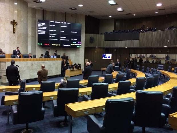 Vereadores na Câmara de São Paulo (Foto: Roney Domingos/G1)