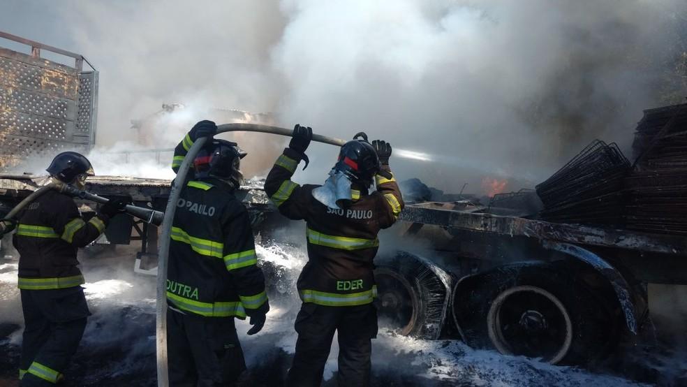 Bombeiros atenderam a ocorrência em Presidente Venceslau (Foto: Corpo de Bombeiros/Cedida)