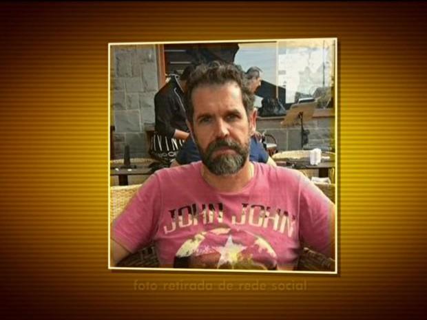 Hugo Alexandre Gabrich é suspeito de matar ex-companheira, Edna Silveira (Foto: TV Globo/Reprodução)