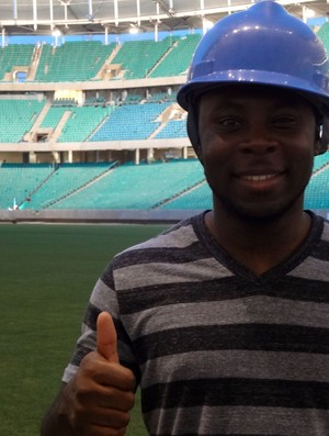 Freddy Adu, meia-atacante do Bahia, na Arena Fonte Nova (Foto: Natalia Arjones / Divulgação / Arena Fonte Nova)