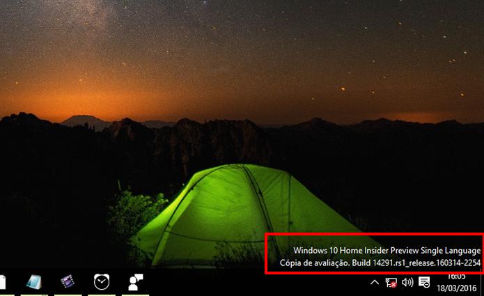 Windows 10 indica o número da Build instalada no computador (Foto: Reprodução/Elson de Souza)
