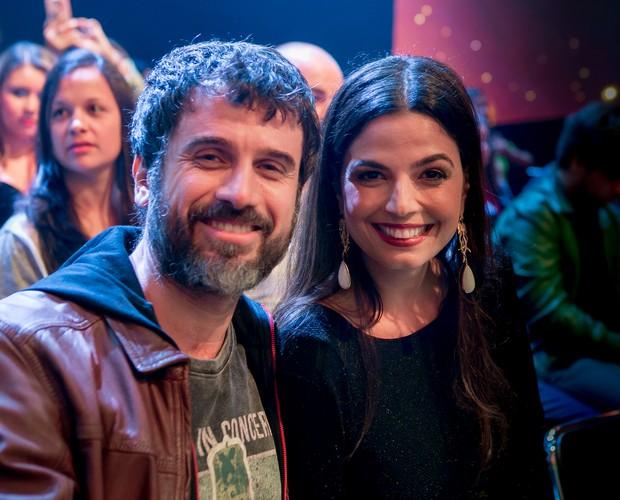Eriberto Leão e Emanuelle Araújo conferem de perto os talentos do SuperStar (Foto: Isabella Pinheiro / Gshow)