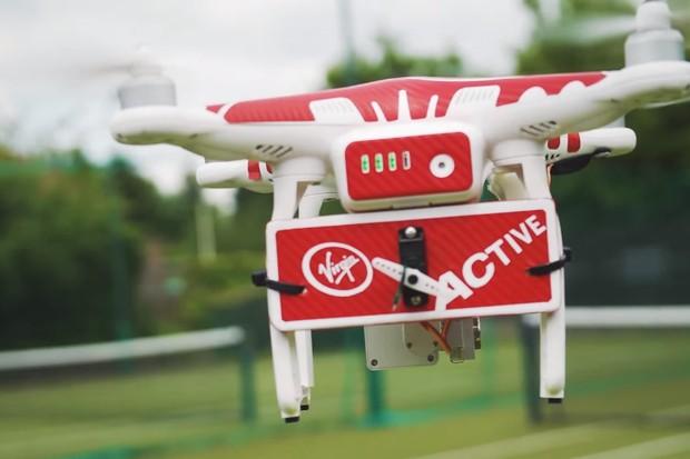 Drone ajuda a melhorar saque no tênis (Foto: Reprodução)