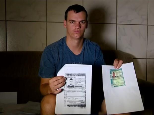 Rangel ficou sem poder dirigir por causa dos pontos que recebeu na carteira, mas não levou (Foto: Reprodução/TV Globo)