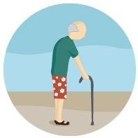Selo aposentadoria por idade (Foto: Editoria de Arte/G1)