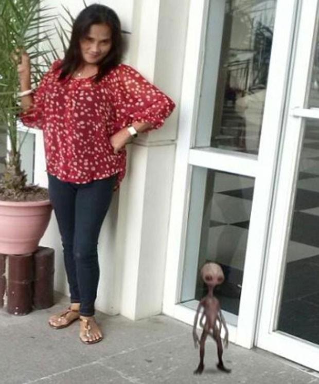 Segundo Emily Santodelsis, criatura se parece com um extraterrestre (Foto: Reprodução)