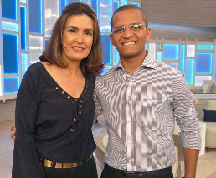 Foto nos bastidores do programa (Foto: Viviane Figueiredo Neto/Gshow)