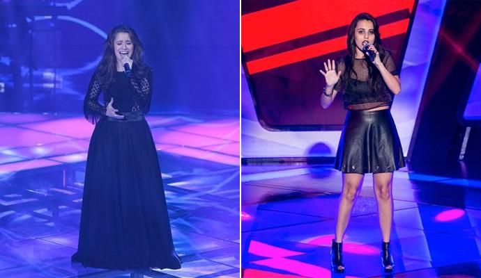 Carla Casarim e Allice Tirolla The Voice Brasil (Foto: Camila Serejo / Isabella Pinheiro / Gshow )