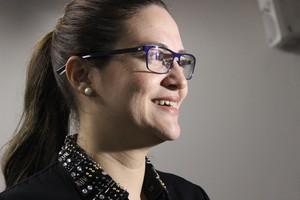 Jaqueline Siqueira - coordenadora (Foto: Emanuele Madeira - GLOBOESPORTE.COM)