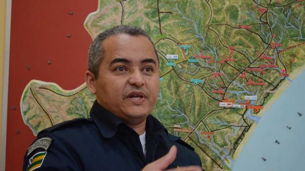 Coronel Barros, Polícia Militar de Sergipe (Foto: João Áquila / GLOBOESPORTE.COM)