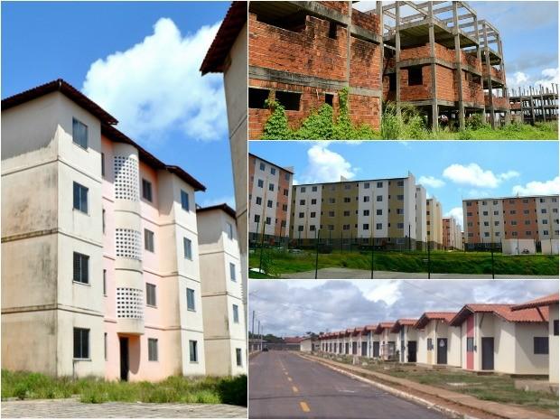 Proposta pede regionalização dos conjuntos habitacionais no Amapá (Foto: Abinoan Santiago/G1 e Dyepeson Martins)