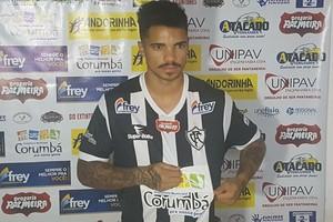 Atacante Elivélton (Foto: Divulgação/Corumbaense FC)