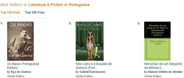No Canadá, Nita Cairu é o segundo livro mais vendido na categoria litaratura em Português (Foto: Amazon/Reprodução)