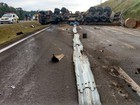 Carretas viram e interditam rodovia por 4 horas em São Miguel Arcanjo