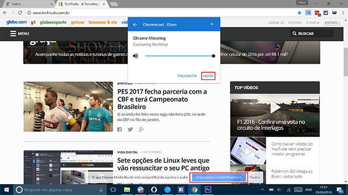 Como transmitir a tela do Windows 10 no Chromecast com o