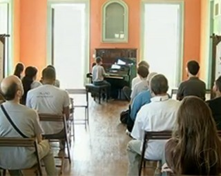 Alunos de música fazem recital no Festival Vale do Café (Foto: Reprodução RJTV 2ª Edição)