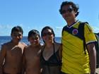 Em tour de carro por sedes da Copa, família colombiana visita o Amazonas