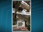 Motorista erra marcha e derruba parte de muro em garagem de prédio no Rio