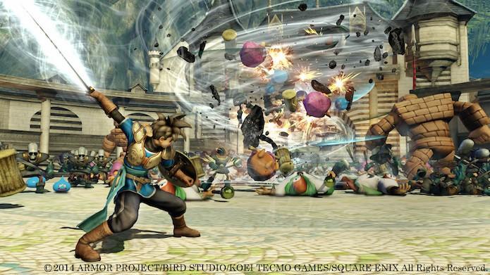 Dragon Quest Heroes tem combates intensos contra centenas de criaturas (Foto: Divulgação/Square Enix)