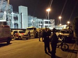 operários morrem após acidente em obra do shopping Iguatemi em Campinas (Foto: Virgginia Laborão / G1)