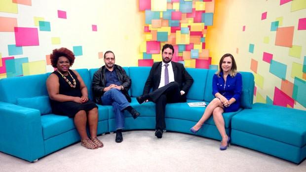 Michele Mara, Pedro Bodê e Bernardo Pinhon Bechtlufft são os convidados do Painel (Foto: Reprodução)