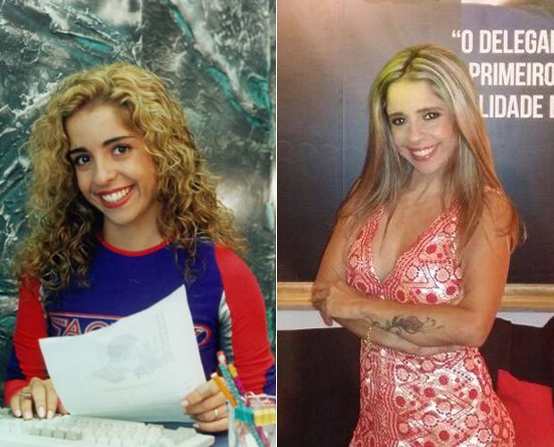 Monica Areal participou da primeira temporada de Malhação e hoje é delegada  (Foto: Cedoc / TV Globo / Arquivo Pessoal)