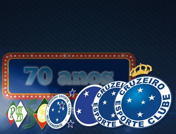 MONTAGEM - Cruzeiro 70 anos (Foto: Editoria de Arte / Globoesporte.com)