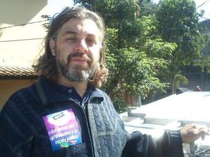 Professor foi atingido no peito (Foto: Divulgação/ Apeosp)