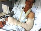 Jardineiro atacado por 3 pitbulls em Ribeirão está traumatizado, diz filho