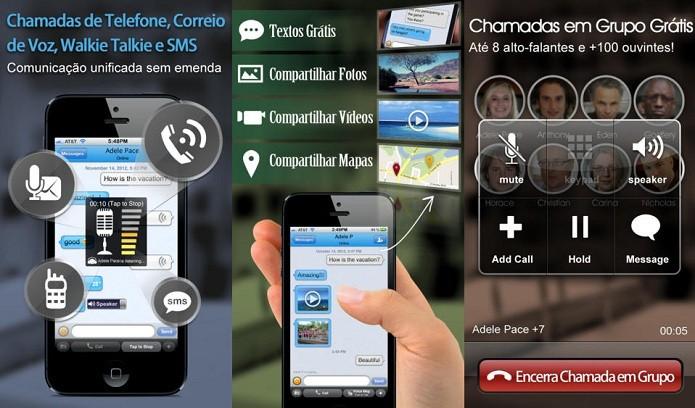 Tenha diferentes funcionalidades de comunicação com o Dingtone (Foto: Divulgação/AppStore)