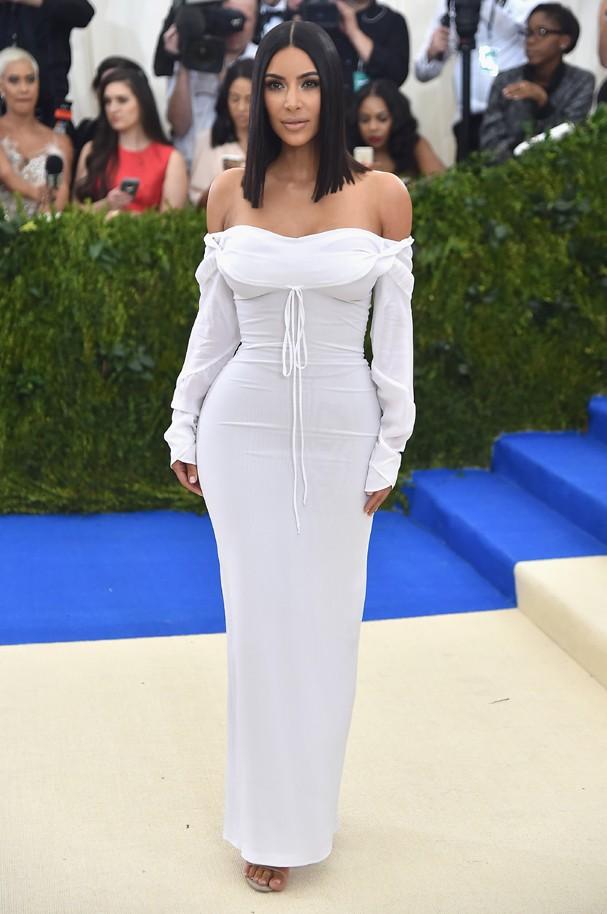 Kim Kardashian no gala do MET (Foto: Getty Images)