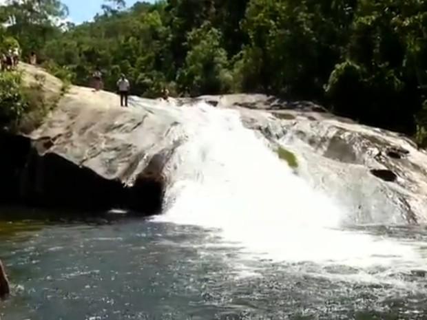 Cachoeira do Escorrega, em Visconde de Mauá (Foto: Reprodução/TV Rio Sul)