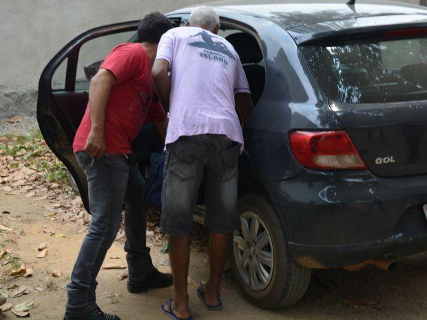 Suspeito preso pela Polícia Civil na terça, 15, vai passar por exames (Foto: Jonatas Boni/ G1)