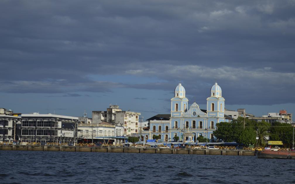 Percurso ocorreu em frente a Santarém (Foto: Geovane Brito/G1)