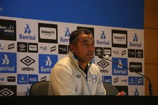 Roger Machado, técnico do Grêmio (Foto: Eduardo Deconto / GloboEsporte.com)