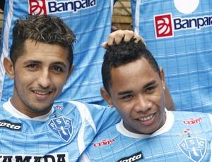 Moisés (direita) não joga diante do Guarany (Foto: Roberta Brandão)