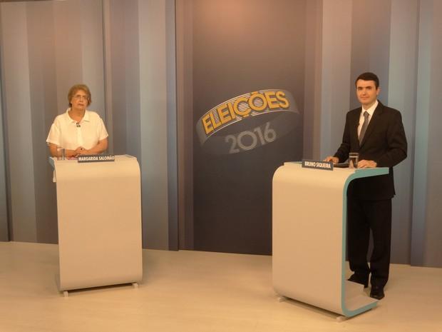 Bruno Siqueira e Margarida Salomão participam de debate na TV Integração (Foto: Rafael Antunes/G1)