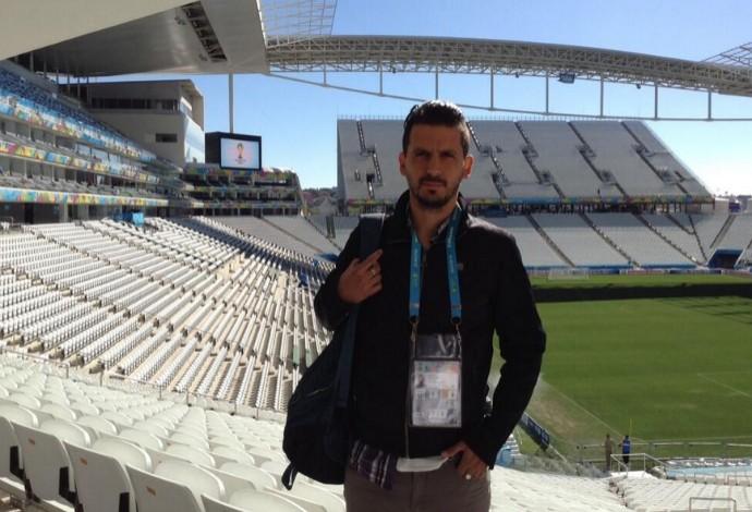 """O jornalista argentino Jorge """"Topo"""" López participava da cobertura da Copa do Mundo no Brasil (Foto: Reprodução / Twitter )"""