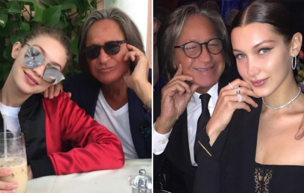 O empresário Mohamed Hadid com suas filhas Gigi Hadid e Bella Hadid (Foto: Instagram)