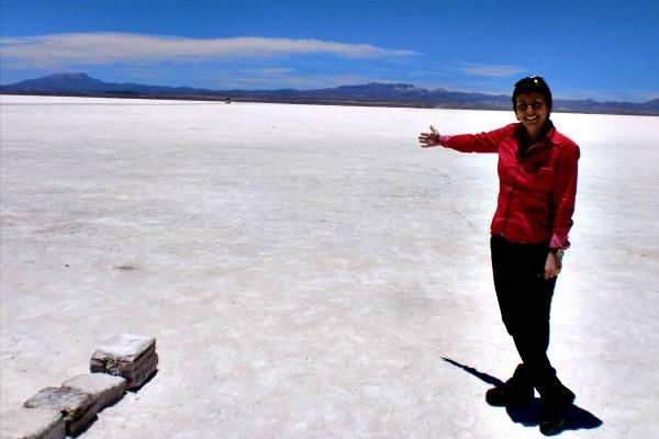 Rosane Marchetti visitou o Salar de Uyuni (Foto: Divulgação/ RBS TV)