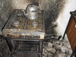 Incêndio na base da PM foi na madrugada de quarta (20) (Foto: DIC Lages/Divulgação)