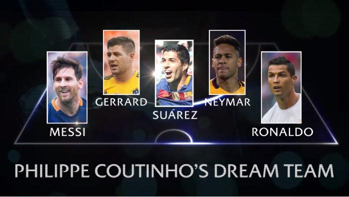 BLOG: Antes de decisão, Coutinho escala time dos sonhos com MSN, CR7 e Gerrard