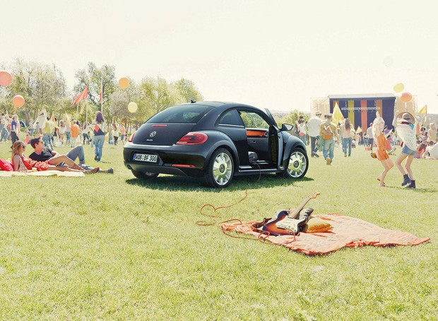 Detalhes cromados e cor especial destacam o Beetle Fender (Foto: Paula Ramón/G1)